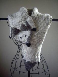 Fox stole scarf
