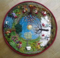 Vierseizoenen met kabouters diameter 80 cm € 180,-