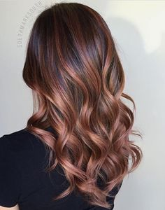 Rose Gold Balayage- Brunette