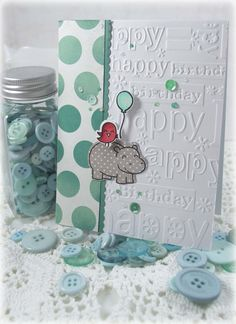: cute use of this embossing folder & stamp set.Card: Another Lawn Fawn Birthday Card Bday Cards, Kids Birthday Cards, Handmade Birthday Cards, Greeting Cards Handmade, Karten Diy, Embossed Cards, Lawn Fawn, Kids Cards, Cool Cards