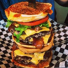 """The """"Go Chuck Yourself"""" Burger from Holy Chuck. 