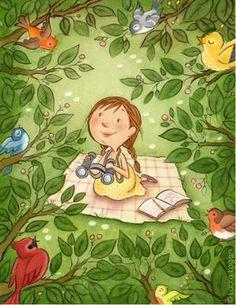 Welcome to Laura Logan Illustration. Laura illustrates children's books, educational, and greeting cards. Children's Book Illustration, Character Illustration, Character Drawing, Character Design, Whimsical Art, Bird Art, Cute Drawings, Cute Art, Kids