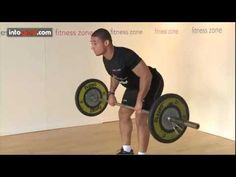 ▶ How to do a Barbell Row- Fitness Zone at intosport.com - YouTube