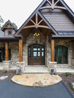 Stone Ridge – Buchanan Construction-Stone Ridge – Buchanan C… – Stone House Rustic Houses Exterior, Dream House Exterior, Exterior House Colors, Rustic Home Exteriors, Stone On House Exterior, Stone House Exteriors, Home Exterior Design, Rustic Lake Houses, Home Styles Exterior