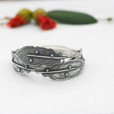 Image of MADE TO ORDER: Portrait of a Dreamer- Bangle Bracelet in Sterling Silver