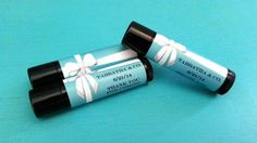 TIFFANY BLUE Personalized Flavored Lip Balm Party by MajesticSoaps
