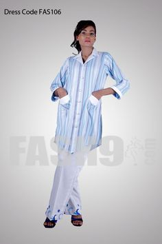Dress Code: FAS106 Sky Blue and White Casual Cotton Dress for Teenagers Size: FREE SIZE Price: PKR 4,500/= Delivery time: READY TO SHIP Shipping: we ship worldwide for orders please email at sales@fash9.com along with dress code or place your order through http://fash9.com/Sky-Blue-and-White-Casual-Cotton-Dress-for-Teenagers
