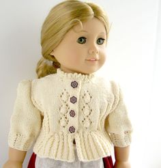 American Girl Doll 18  Gotz doll Knitting Pattern  Folk Style Jacket  Cardigan Dirndl   PDF Format instant download, Permission to Sell. $6.00, via Etsy.