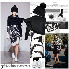 Cool Girl Theory: Black & White Inspired by Acne Studio by getthelooks on Polyvore  STRUCTURE ONE SLEEVE WRAP STOLE IN BLACK http://getthelooks.com.au/structure-one-sleeve-wrap-stole-in-black on eBay: http://cgi.ebay.com.au/ws/eBayISAPI.dll?ViewItem&rd=1&item=181675876381 featuring Whistles, Jeffrey Campbell, Pierre Hardy, Thomas Sabo, Federica Moretti, Ciaté, StreetStyle, monochrome, blackandwhite and runwaytorealway