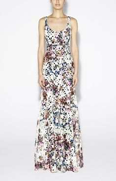 Printed Venice Lace Gown     jaglady