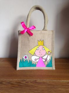Personalised jute bag, Ben and Hollys little kingdom
