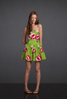Get some sun on your shoulders in a strapless summer dress, covered top to bottom in the prettiest floral pattern!