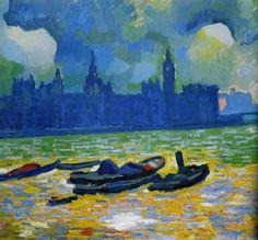 André Derain was a French painter, & co-founder of Fauvism art together with Matisse. Andre Derain, Raoul Dufy, Henri Matisse, Claude Monet, Fauvism Art, Maurice De Vlaminck, Images D'art, Art Moderne, Fine Art