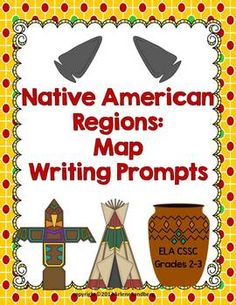 Free Native American Regions: Map and Writing Prompts  #writingprompts #nativeamericans #homeschool