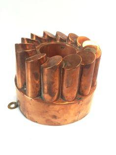 Antique Victorian Gothic Copper Dessert Jelly Mold 1800's Benham & Froud Style