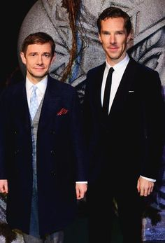 "@freebaggins ""@TheDeductionGod: Benedict Cumberbatch and Martin Freeman today at the Hobbit premiere #OneLastTime """
