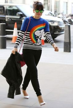 Lily Allen keeps it colorful in London