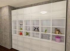 カラーボックスで作る壁面収納のイメージ