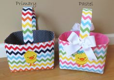 Set of TWO Personalized Easter Basket Personalized by twosugarpeas, $60.00