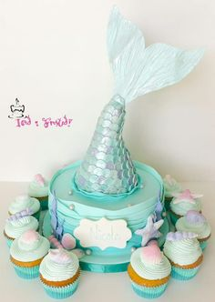 Mermaid's tail cake (mermaid birthday cake)
