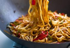 Asian Recipes, Ethnic Recipes, Pasta Noodles, Wok, Spaghetti, Food And Drink, Health Fitness, Yummy Food, Treats