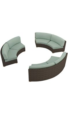 Harmonia Living 3 Piece Arden Curved Sectional Cushion Set, Canvas Spa Best Price