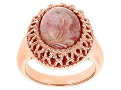 Timna Jewelry Collection(Tm) Oval Cabochon Rhodochrosite Copper Ring