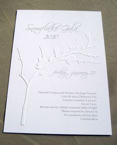 United Way Snowflake Gala Invitation by Jenn Berney, via Behance