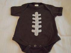 Baby boy football onsie by stitchesnhoops on Etsy, $15.00