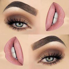 20 Top Exclusive Eye Shadow and Lip Makeup Appearance 20 Top exklusives Lidschatten- und Lippen-Make-up Natural Eye Makeup, Eye Makeup Tips, Smokey Eye Makeup, Makeup Goals, Skin Makeup, Beauty Makeup, Makeup Ideas, Makeup Tutorials, Mua Makeup