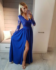 Long Sleeves Prom Dresses ready for sale online store at SimiBridalDresses. Find the perfect fit Long Sleeves Prom Dresses collection of designer dresses with sleeves. Buy Most Elegant Long Sleeve Prom Dresses of 2018 for a Modest Look. Royal Blue Prom Dresses, Prom Dresses Long With Sleeves, Prom Dresses With Sleeves, Dresses For Teens, Homecoming Dresses, Dress Prom, Royal Blue Long Dress, Long Dresses, Cobalt Blue Dress