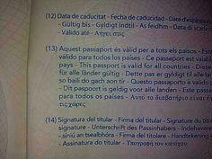 """Això és una captura ni més ni menys que del meu passaport. La falta es troba en la frase alemanya,  """"Dieser Reisepass ist für alle länder glütig"""". La paraula """"länder"""" hauria de començar en majúscula, ja que és un substantiu. 30/04/2013"""