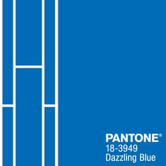 PANTONE 18-3949 Dazzling Blue is a scintillating color that adds confidence and vivacity when mixed with other bold colors. #FCRS14 #pantone