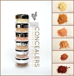 Younique concealers  #mineralmakeup #makeup #beauty  Moodstruck Minerals Concealer 100% natural, chemical-free, mineral-based pigment powders, free of talc, oils, preservatives, perfumes, synthetic dyes, and parabens.  www.youniquebykeena.com