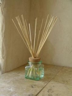 Save money by making your own essential oil diffuser out of recycled glass containers http://www.motherearthnews.com/diy/weekend-project-save-money-by-making-your-own-essential-oil-diffuser.aspx