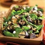 Spinach is a great source of iron which helps give your body energy. Try this tasty #recipe for dinner tonight... Grilled Eggplant-Spinach Salad | The Fresh Grocer