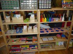 Montessori homeschool room. (reminder to look for Montessori ideas to incorporate!)