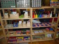 Montessori homeschool room. (reminder to look for Montessori ideas to incorporate!)