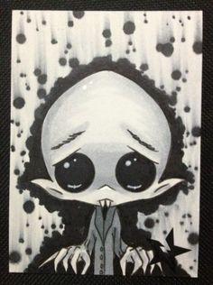 Sugar Fueled Nosferatu Vampire Horror Creepy Cute BIG EYE Aceo Mini Print | eBay