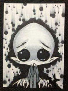 Sugar Fueled Nosferatu Vampire Horror Creepy Cute BIG EYE Aceo Mini Print | eBay