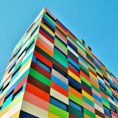 These colorful buildings put the LEGO building blocks to shame! See the Pixel in Melbourne, Australia & Sugamo Shinkin Bank in Tokyo, Japan.