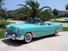 1954 Buick Skylark Classic and antique cars. Sometimes custom cars but mostly classic/vintage stock vehicles. Buick Roadmaster, Buick Skylark, Vintage Cars, Antique Cars, Retro Cars, Convertible, Buick Cars, American Classic Cars, American Auto