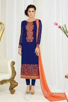 http://www.mangaldeep.co.in/salwar-kameez/blue-georgette-designer-straight-salwar-suit-8393 For more information :- Call us @ +919377222211 (Whatsapp Available) (y) :)