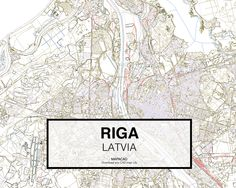 Riga - Latvia. Download CAD Map city in dwg ready to use in Autocad. www.mapacad.com