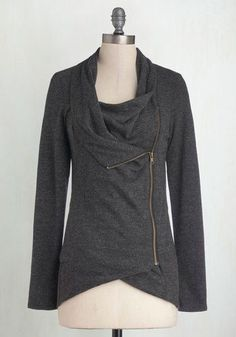 Plus Size Cardigan in Charcoal