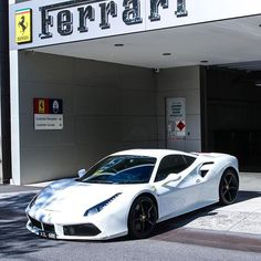 Ferrari 458 Italian garage new white road