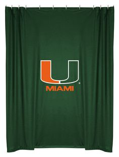 Maimi Hurricanes NCAA Sports Coverage Team Color Shower Curtain  #SportsCoverage #LockerRoom