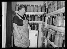 My Mom and Grandma Dean canned everything from their garden's this is what our warm house looked like.