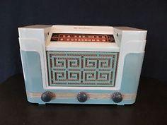VINTAGE 1940s RARE WESTINGHOUSE OLD ORIENTAL ASIAN MOTIF BAKELITE TUBE RADIO