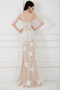2015 Sweetheart Mermaid/Trumpet Prom Dress Embellished With Applique And Beads
